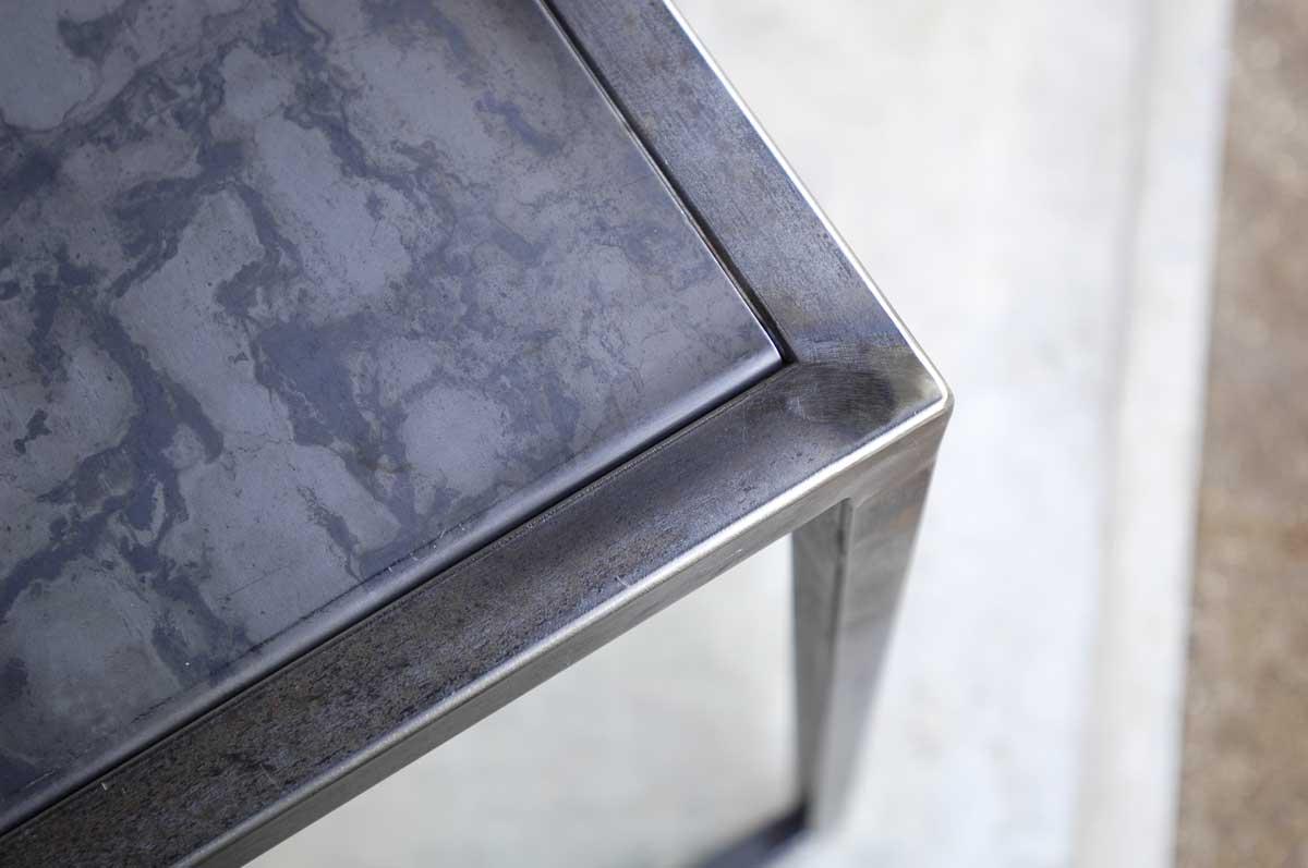 plateau acier inclusion console. Black Bedroom Furniture Sets. Home Design Ideas